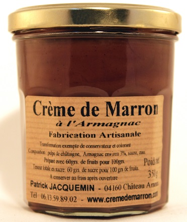 crème de marrons à l`armagnac