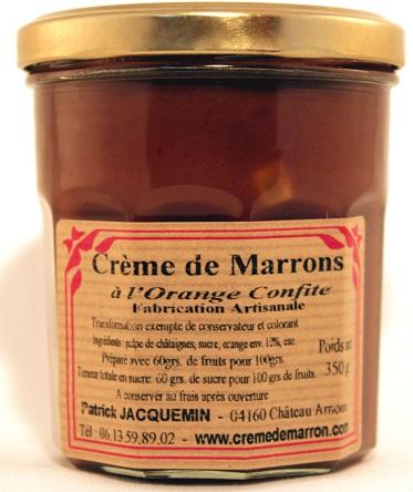 creme de marrons a l`orange confite