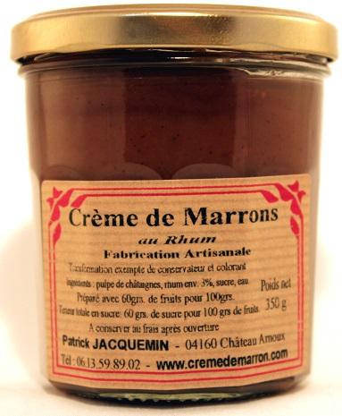 crème de marrons au rhum
