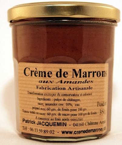 crème de marrons aux amandes