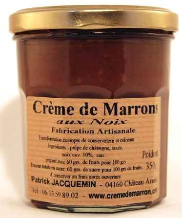 creme de marron aux noix